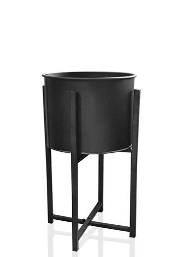 The Mia Saksı 70 Cm - Siyah Siyah